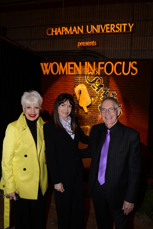 Donna Bunce, event sponsor Twyla Martin and dean Bob Bassett-1.