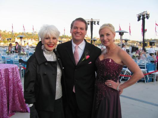 Longtime Komen supporters Julie Ann and Jim Ulcickas join me at the Pink Tie Ball