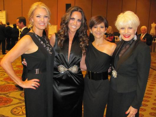 Joining me at CASA Orange County's Black & White Ball were, from left, co-chairs Cathy Frandsen, Jeanina Esparza and Lourdes Nark