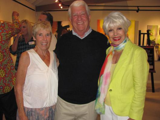 The Shed Fine Art Gallery owner Sue Osborne and Rivals United for a Kure founder Barry Hoeven joined me at the wine sharing party