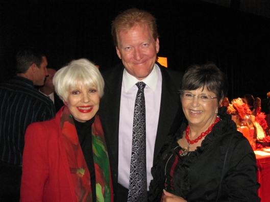"""Joining me at UCI MIND's """"Toast to the Holidays"""" fundraiser were MIND's Director of Development and Donor Stewardship Linda Scheck and Alzheimer's Association of Orange County's ???? Jim McAleer"""