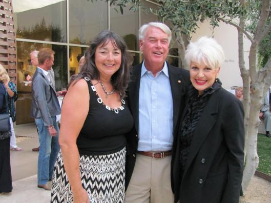 """Joining me at Bowers Museum's """"Jewels of the Connoisseur"""" opening are private jeweler Mona Lee Nesseth and Bowers' President Dr. Peter Keller"""