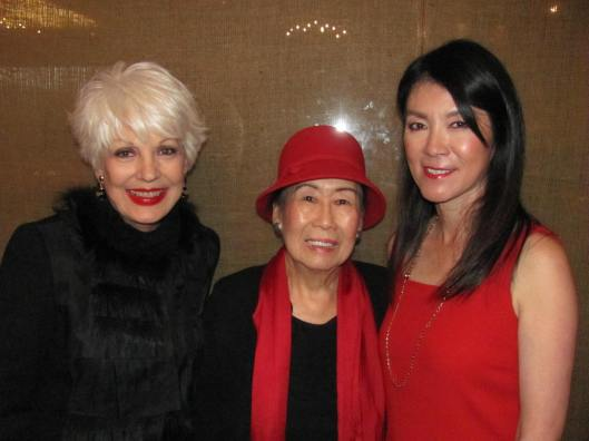 Joining me at the Candlelight Concert luncheon at AnQi were past chair Ruth Ding (center) and current chair Betty Huang