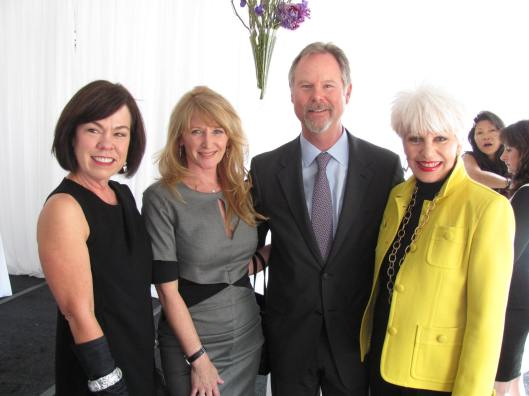 Joining me at the Harvesters' 21st Annual Luncheon and Fashion Show are, from left, South Coast Plaza's Executive Director of Marketing Debra Gunn Downing, Harvester and immediate past chair Jennifer Segerstrom, and South Coast Plaza Managing Partner Anton Segerstrom