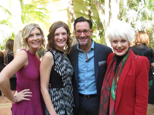 Joining me at CASA's 16th Annual Holiday Luncheon are, from left, co-chairs Janine Wald and Jaynine Warner and Celebrity MC Gregory Zarian