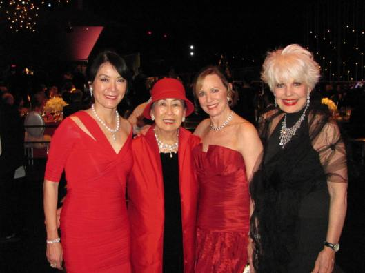 Joining me at Segerstrom Center for the Arts' 40th Anniversary Candlelight Concert were, from left, chair Betty Huang, former chair Ruth Ding, and vice chair and former chair Dee Higby