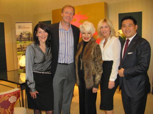 Joining me at The Saks/Graff reception for CureDuchenne were its founders Debra and Paul Miller, Saks Fifth Avenue's Vice President and General Manager Chris Bues?? and Graff Vice President Alain Huy