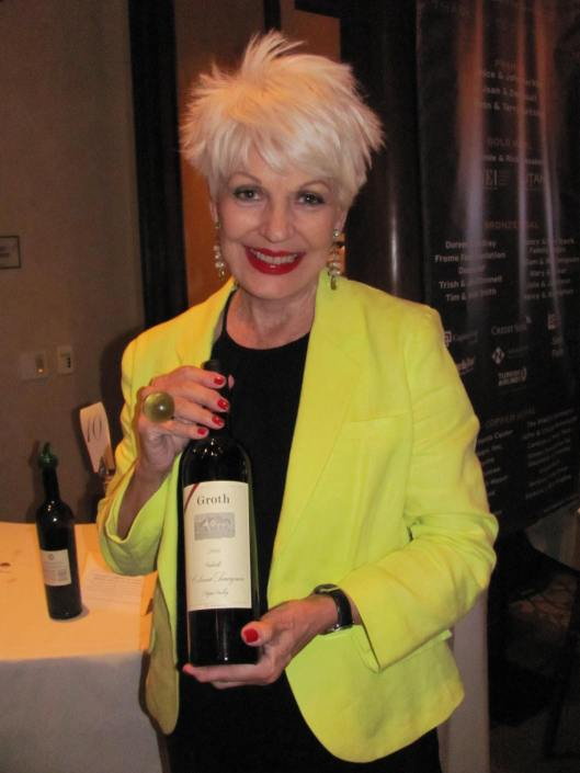 "Your truly enjoying The Wooden Floor's Seventh Annual ""Keep the Promise"" wine tasting benefit"