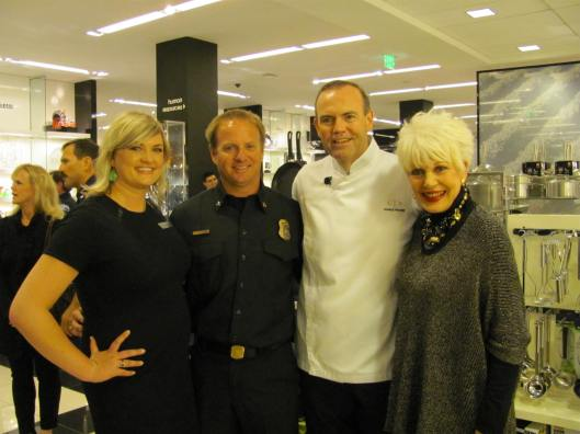 Joining me at the Bloomingdale's/Charlie Palmer Burger Challenge was the store's PR Manager Jaime Strong, Costa Mesa Fire Department Battalion Chief Tim Vasin and Chef Charlie Palmer