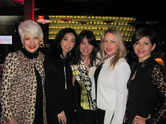 Joining me at CASA's Second Annual Fashion Show and Luncheon are, from left, AnQi's Elizabeth An, CASA Ball co-chair Wendy Tenebaum, Barbara Bui's Liz Tate, and ball co-chair Lourdes Nark