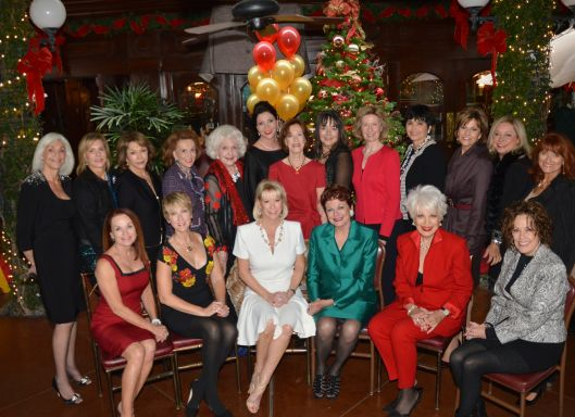 "Women of Chapman's 2013 ""Christmas at The Ritz"" committee, including chair Karly Brown and event co-founder Charlene Prager"