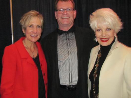 "Joining me at one of the four performances of CHOC Follies' ""Chocton Abbey"" were CHOC Foundation Vice President Jan Lansing and the show's Director John Vaughan"