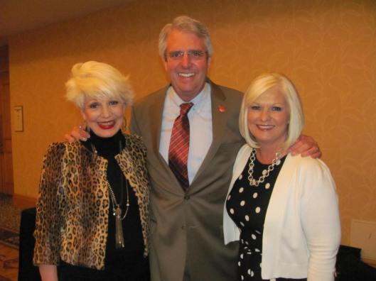 """Joining me at OneOC's 38th Annual """"Spirit of Volunteerism"""" Awards Luncheon were One OC's CEO Dan McQuaid and Diane Killeen, Manager of Disney's VoluntEARS and Cast Initiatives"""