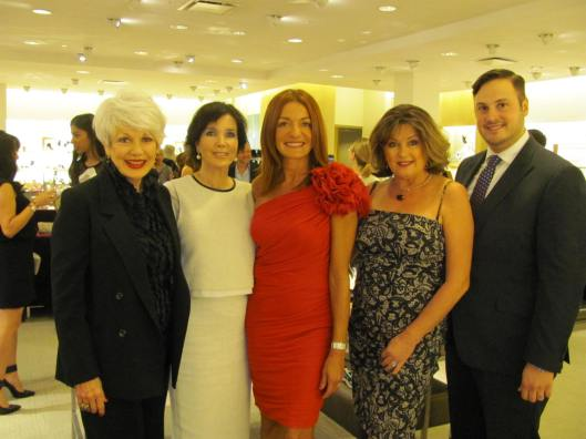 Joining me at the JDRF Dream Guild soiree at Neiman Marcus were, from left, event co-chair Elyse Roberts, Dream Guild outgoing President Analisa Albert and incoming President Pamela Lowry, and event co-chair James Cueva