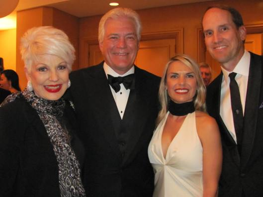 "Joining me at the United Cerebral Palsy of Orange County's ""Life Without Limits Gala"" were Impact Award honorees Dennis Kuhl, Angels Baseball Chairman, Amanda Fowler, representing Edwards Lifesciences, and Dr. Michael Muhonen, CHOC Children's Director of Neurosurgery"