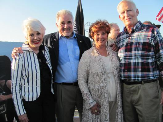 Joining me at Working Wardrobes' VetNet Nite on board the USS Iowa were VetNet's Founder and Executive Director Harry Humphries, Working Wardrobes' Founder and CEO Jerri Rosen, and my husband and Air Force veteran Doug Bunce