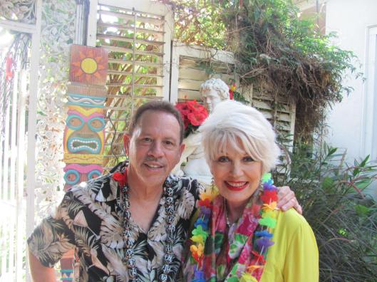 "Joining me at South Coast Symphony's ""Hawaiian Luau"" at Wilcox Manor in Tustin is SCS's Founder and Conductor Barry Silverman"
