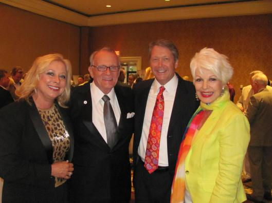 "Joining me at the American Liver Foundation's 11th Annual ""Flavors of Orange County"" gala were, from left, Kathy Hamilton, Gary Dudley, and Noel Hamilton"