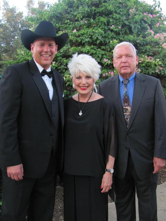 "Joining me at the Mission San Juan Capistrano's ""Romance of the Mission"" gala was Portola Riders' President Tony Gregory II, left, and Gilbert Aguirre, one of the either original Portola Riders"
