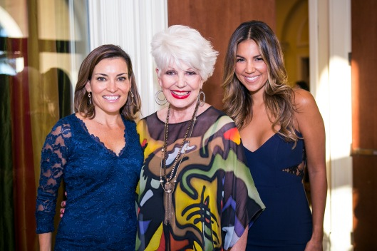 "Joining me at Global Genes' Third Annual ""Tribute to Champions of Hope Gala"" were Access Hollywood LIVE's Kit Hoover, left and Access Hollywood's Liz Hernandez"