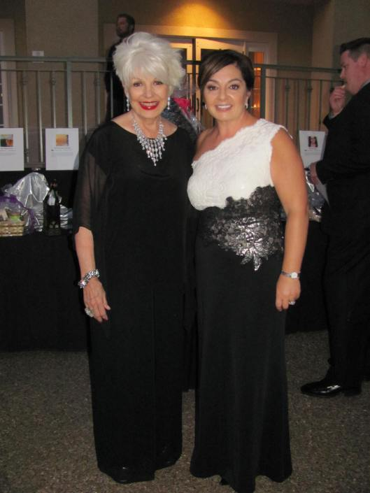 "Joining me at the Laura's House 20th Anniversary ""Shall We Dance"" gala was its dynamic Executive Director Margaret Bayston"