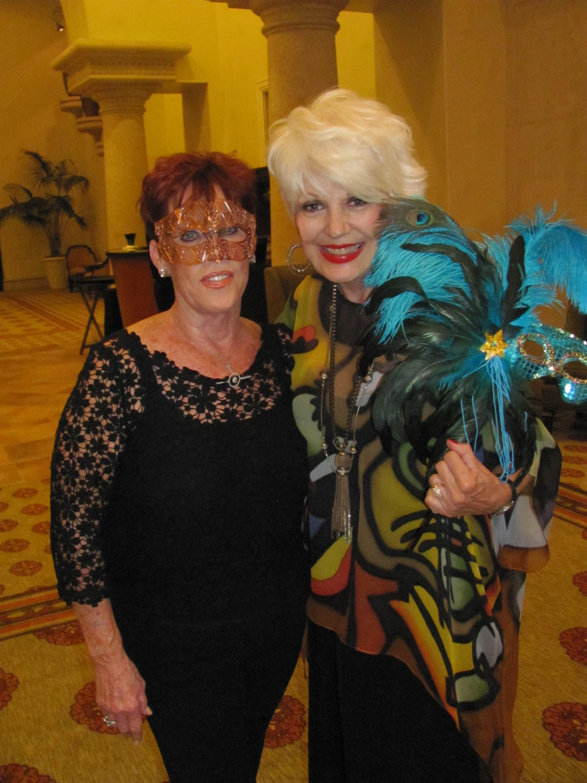 argyros family foundation donna on the town joining me at spin s masquerade gala was its executive director jean wegener