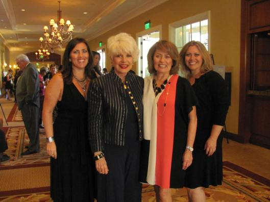 Joining me at the 25th annual Orange County Ronald McDonald House's High Tea and Fashion Show are its co-chairs Jenny  ????, Isabelle Villasenor and Lisa ????