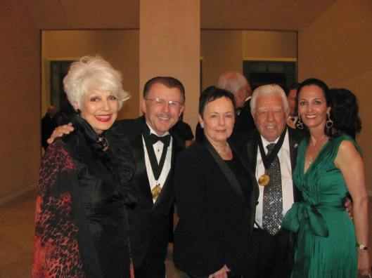 "Joining me at Chapman University's ""American Celebration"" evening were its co-chairs, Mark Johnson, second from left, and his wife Barbara, right, along with Honorary Chairs Marybelle and Paul Musco"
