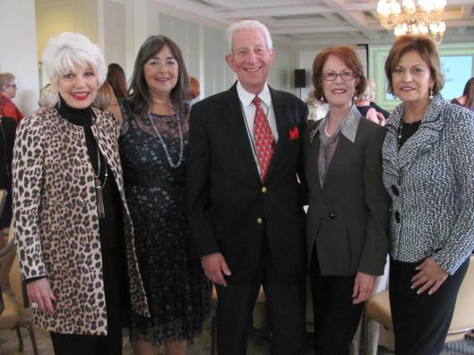 "Joining me at Women of Chapman's presentation of ""The Russian Imperial Crown Jewels: Their Origins and Their Fate"" by renowned speaker His Imperial Highness Dr. Geza von Habsburg were Mona Nesseth, Donna Bianchi and Donna Calvert"